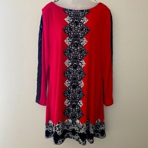Style & Co red dress Sz XL